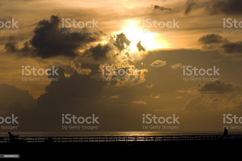 Beach Inlet Sunrise royalty-free stock photo
