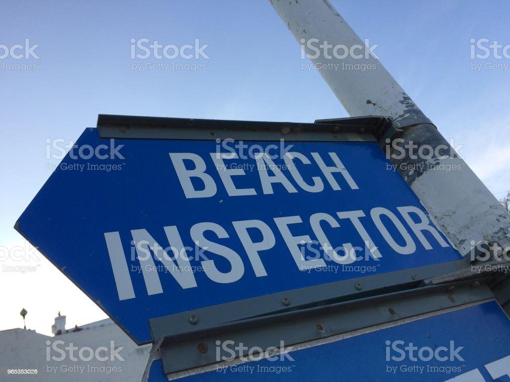 Beach inspector royalty-free stock photo