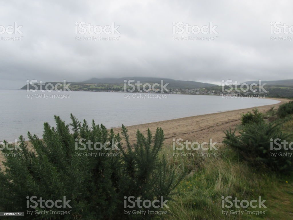 Beach Isle of Arran stock photo