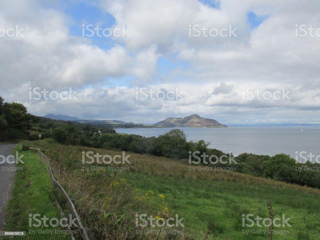 Beach, Isle of Arran stock photo