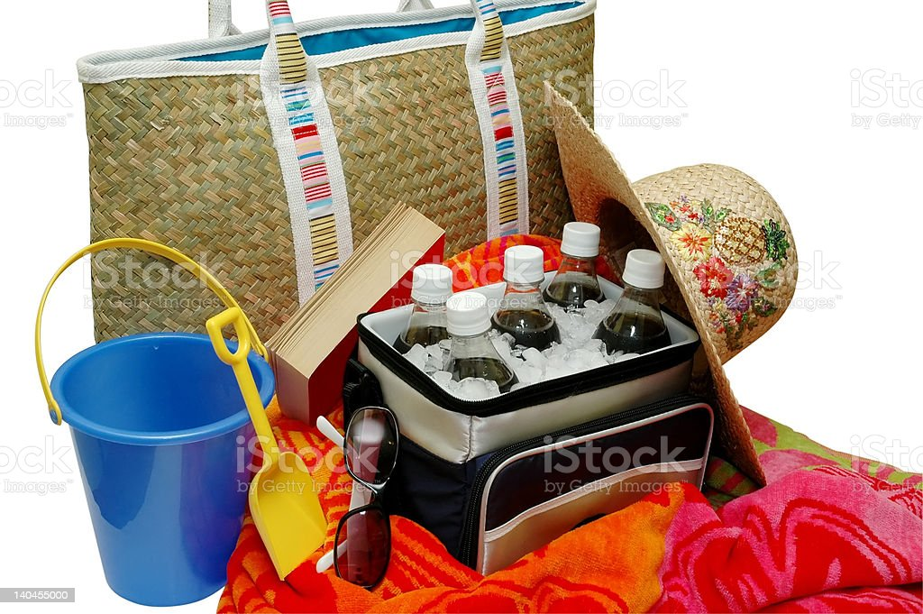 Beach Items Isolated stock photo