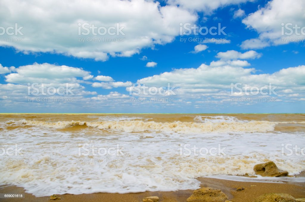 Beach just after the storm royalty-free stock photo