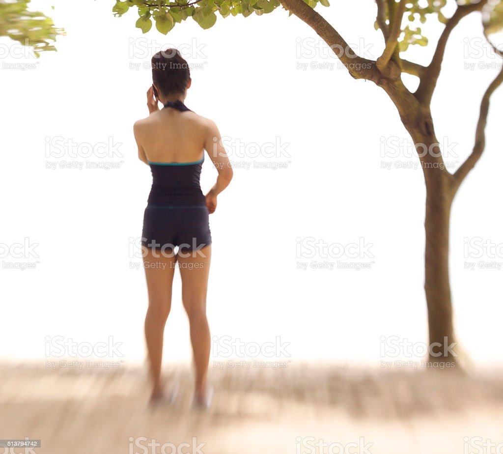 Beach Lady stock photo