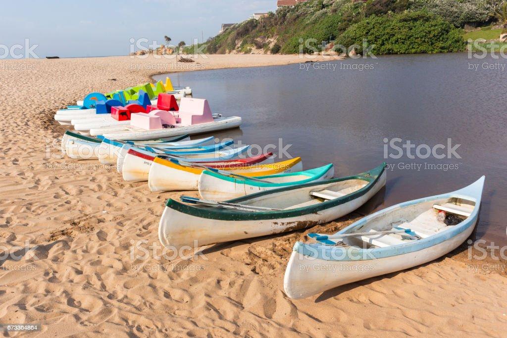 Beach Lagoon Paddle Boats stock photo