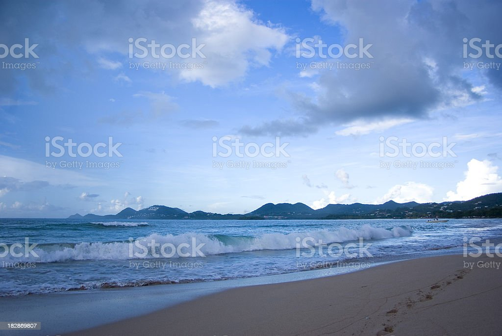 beach landscape and sky royalty-free stock photo