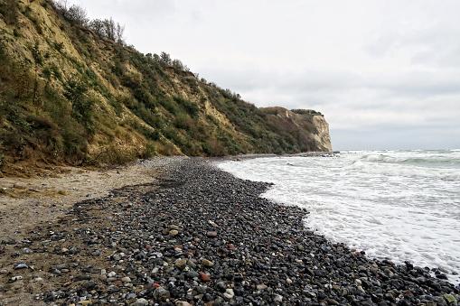 Beach landscape of Cape Arkona at Baltic sea coast.