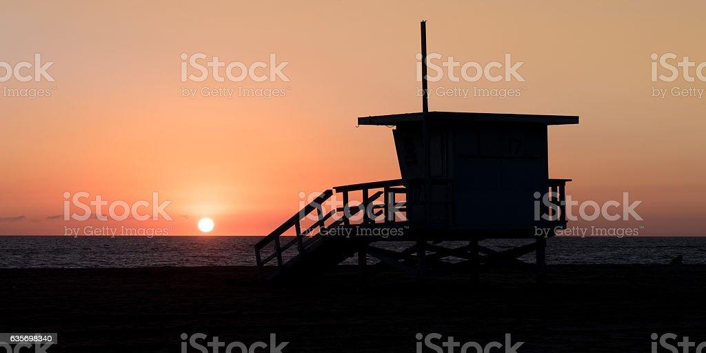 Beach Life Guard hut royalty-free stock photo