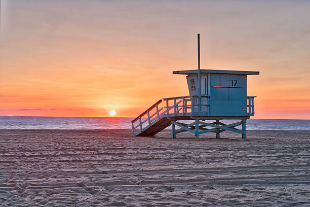 Beach Life Guard hut Life Guard hut on a beach in California, USA venice beach stock pictures, royalty-free photos & images