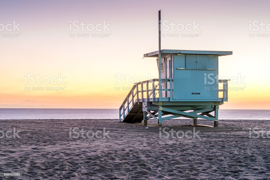 Beach Life Guard hut royalty-free stock photo