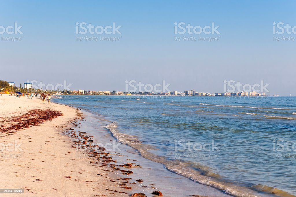 Beach Life with View Florida USA stock photo