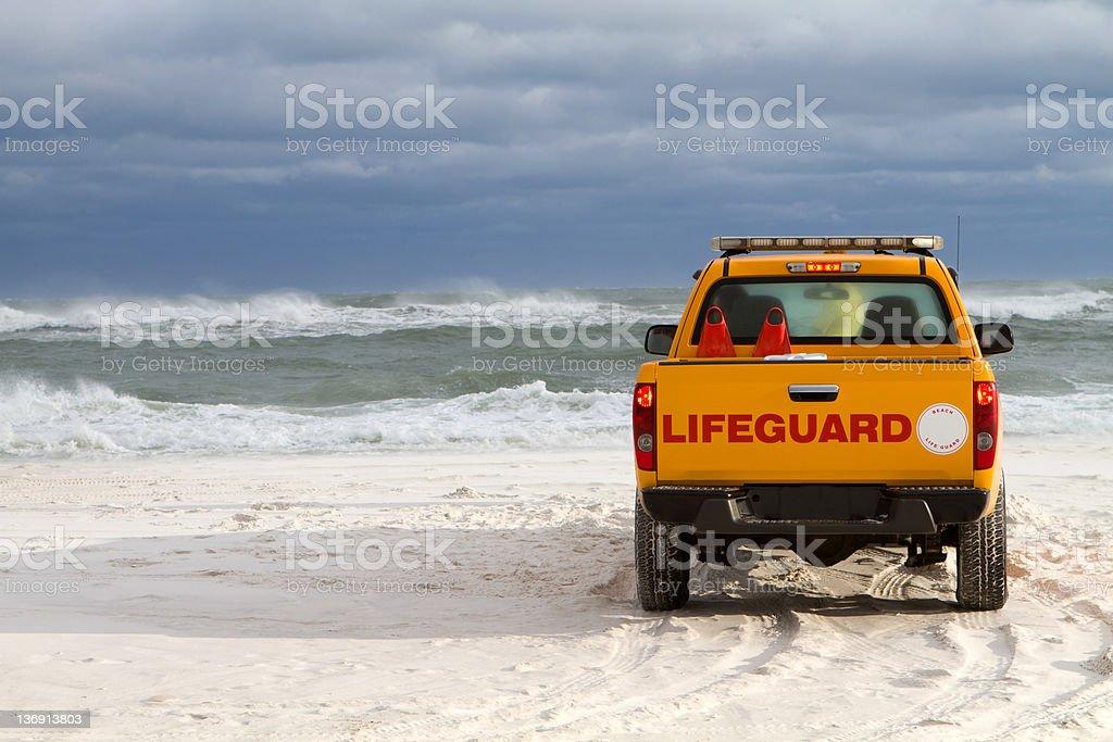 Beach Lifeguard Vehicle stock photo