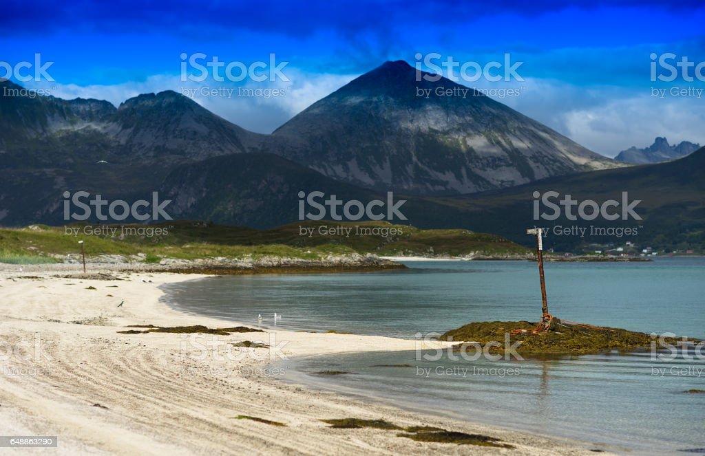 Beach limiter landscape background stock photo