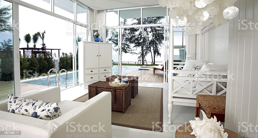 Beach Living Area stock photo