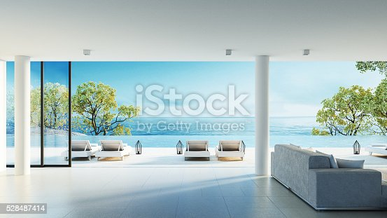 istock Beach living on Sea view 528487414