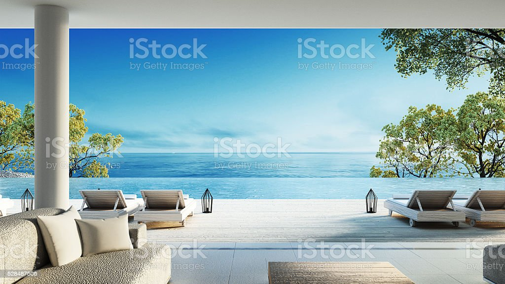 Beach living on Sea view royalty-free stock photo