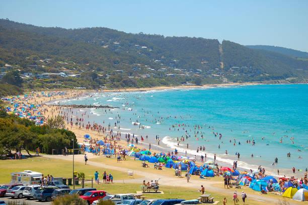 Beach - Lorne stock photo