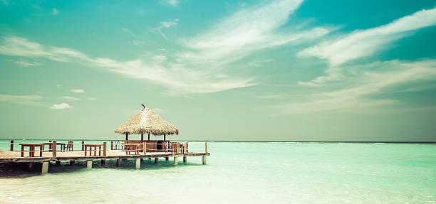 Beach Lounge stock photo