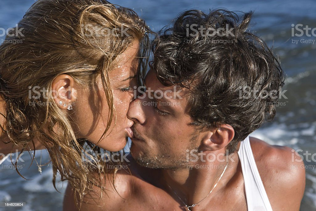 Beach love stock photo