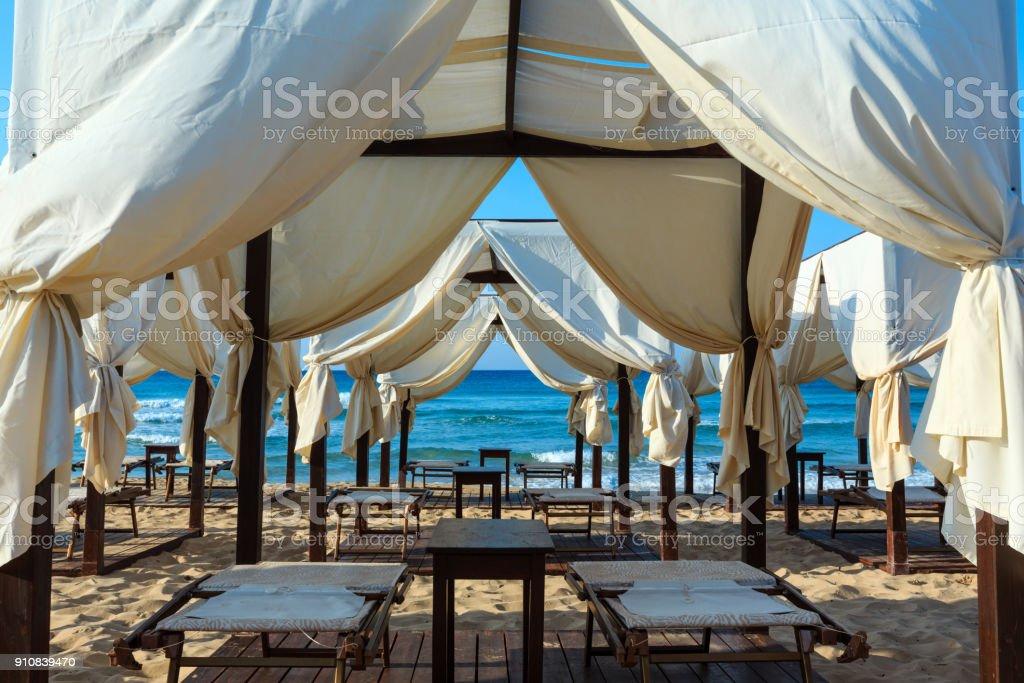 Malediven Strand des Salento, Pescoluse, Apulien, Italien – Foto