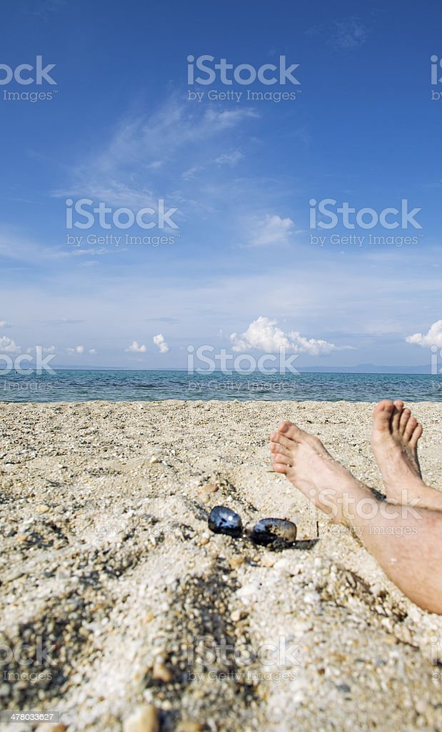 beach meditation royalty-free stock photo