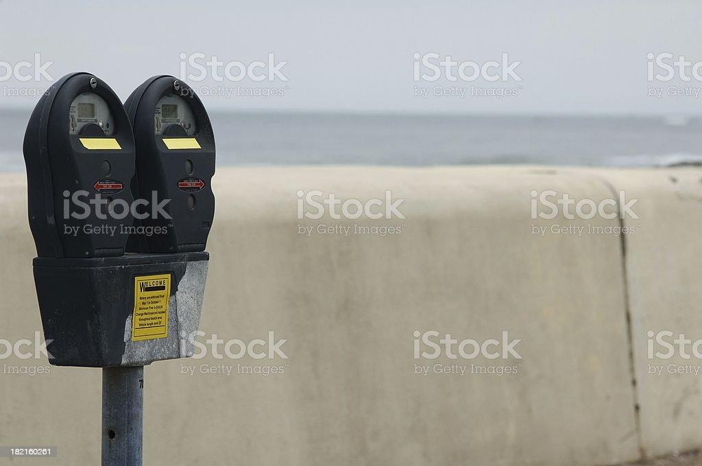 beach meters royalty-free stock photo