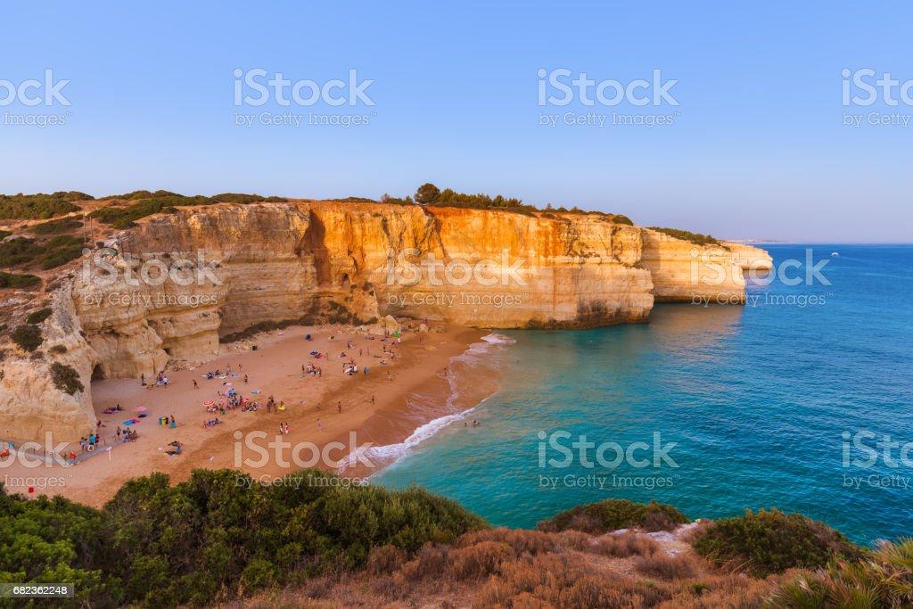 Beach near Albufeira - Algarve Portugal foto stock royalty-free