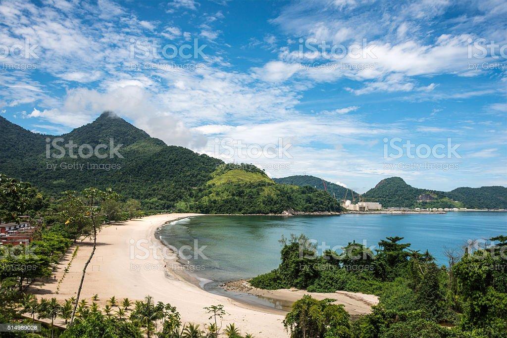 Beach near Angra Nuclear Power Plant, Rio de Janeiro stock photo