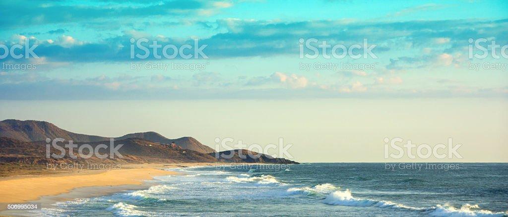 ATV  beach near Cabo on the Pacific Ocean stock photo