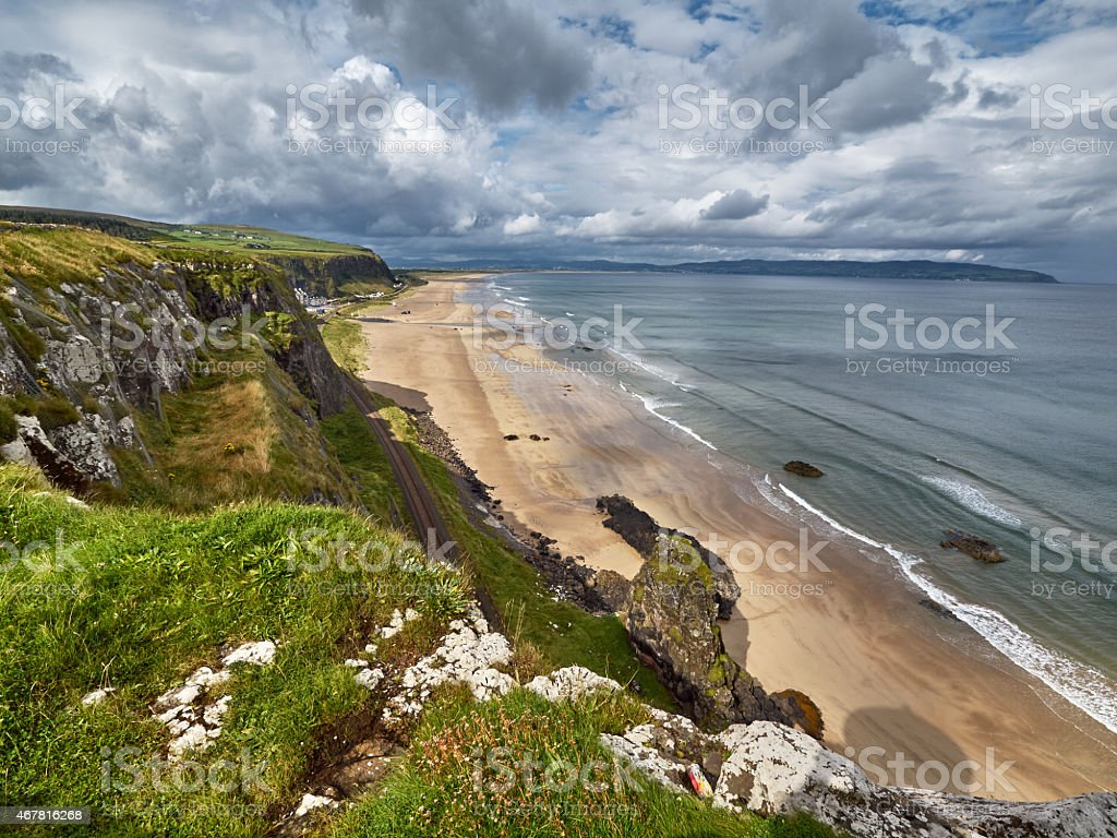Beach near Castlerock, Northern Ireland stock photo