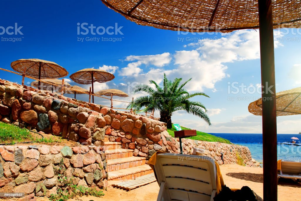 Beach near Red Sea stock photo