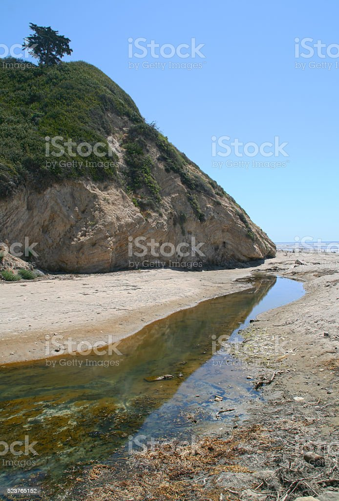 Beach Near the Cliffside stock photo