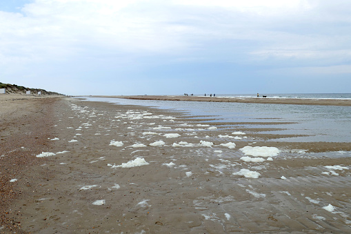 Foto de Praia Perto De Vrouwenpolder Zeeland Holanda e mais fotos de stock de Areia