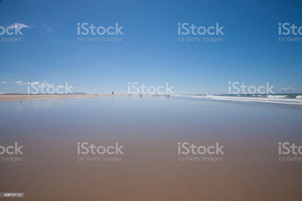 beach next to Conil stock photo