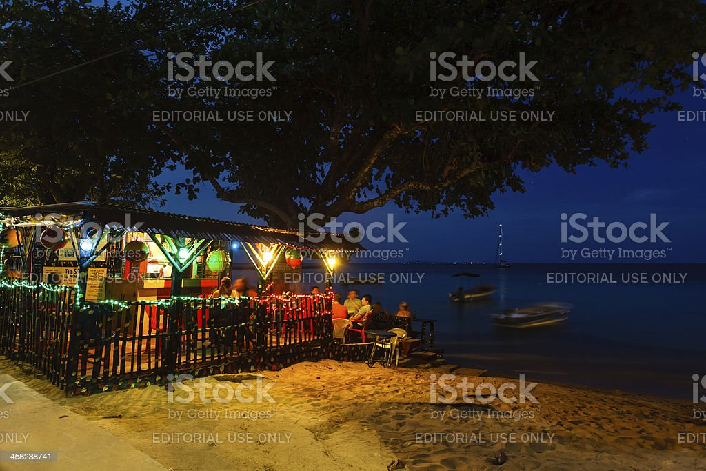 Beach night club in Little Corn Island, Nicaragua​​​ foto
