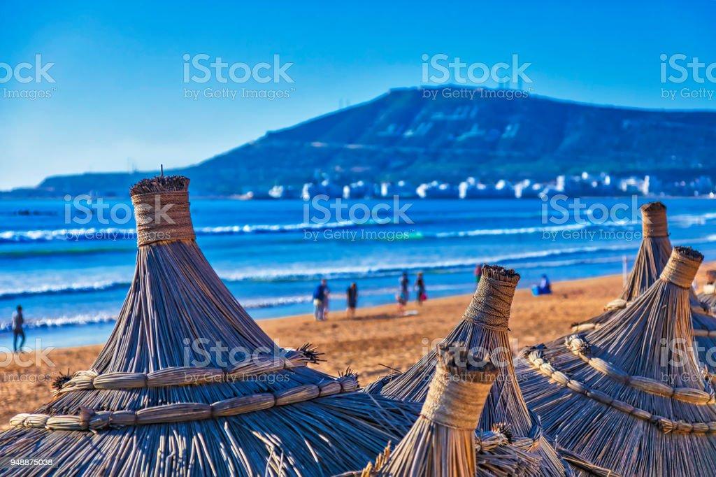 Playa de Agadir - foto de stock
