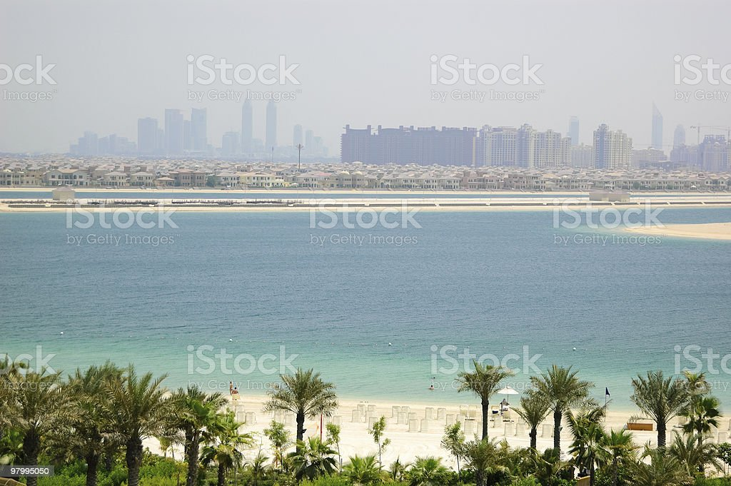 Beach of Atlantis the Palm hotel royalty-free stock photo