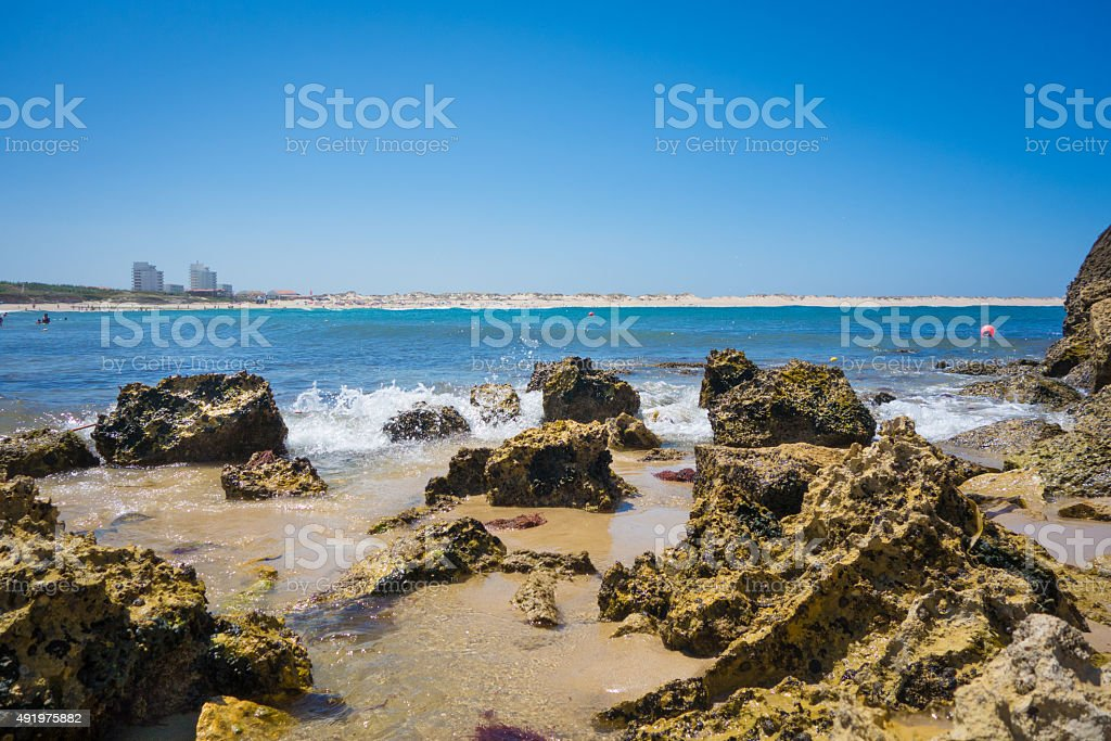 Beach of Baleal stock photo