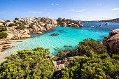 Beach of Cala Coticcio, Sardinia, Italy