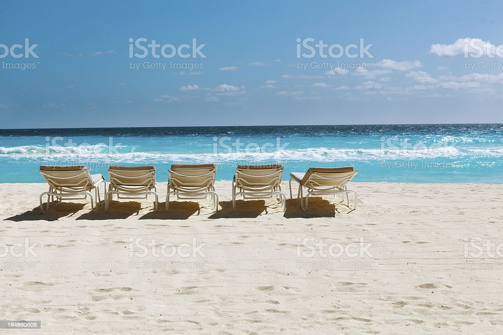 Beach of Cancun, Riviera Maya, Mexico royalty-free stock photo