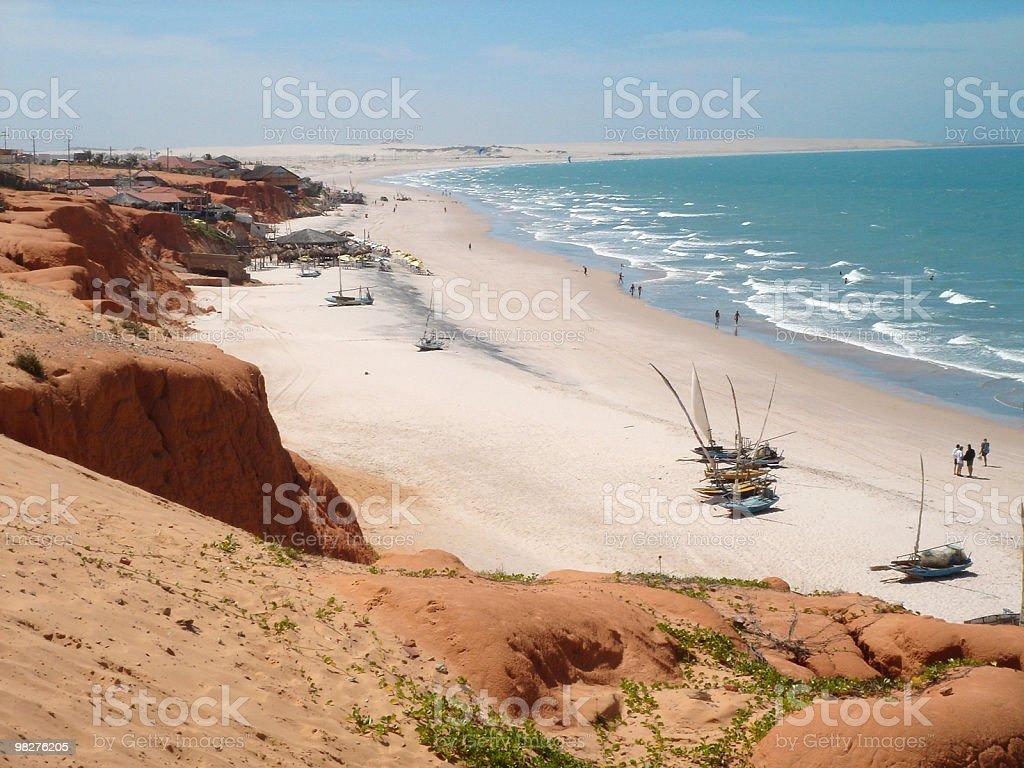 Beach of Canoa Quebrada, Brazil royalty-free stock photo