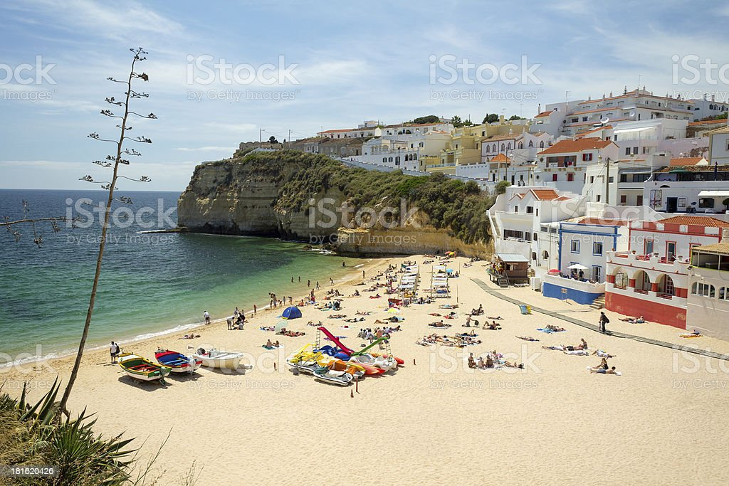 Beach of Carvoeiro, Portugal stock photo