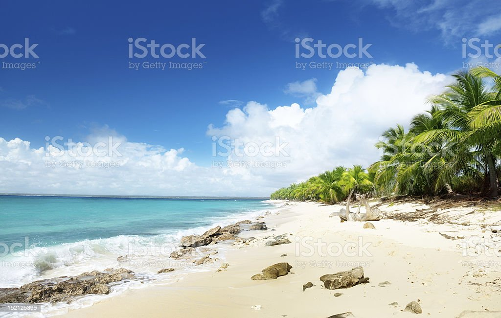 beach of Catalina island, Dominican republic stock photo