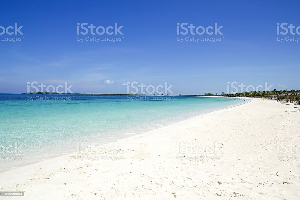 Beach of Cayo Santa Maria. Cuba stock photo