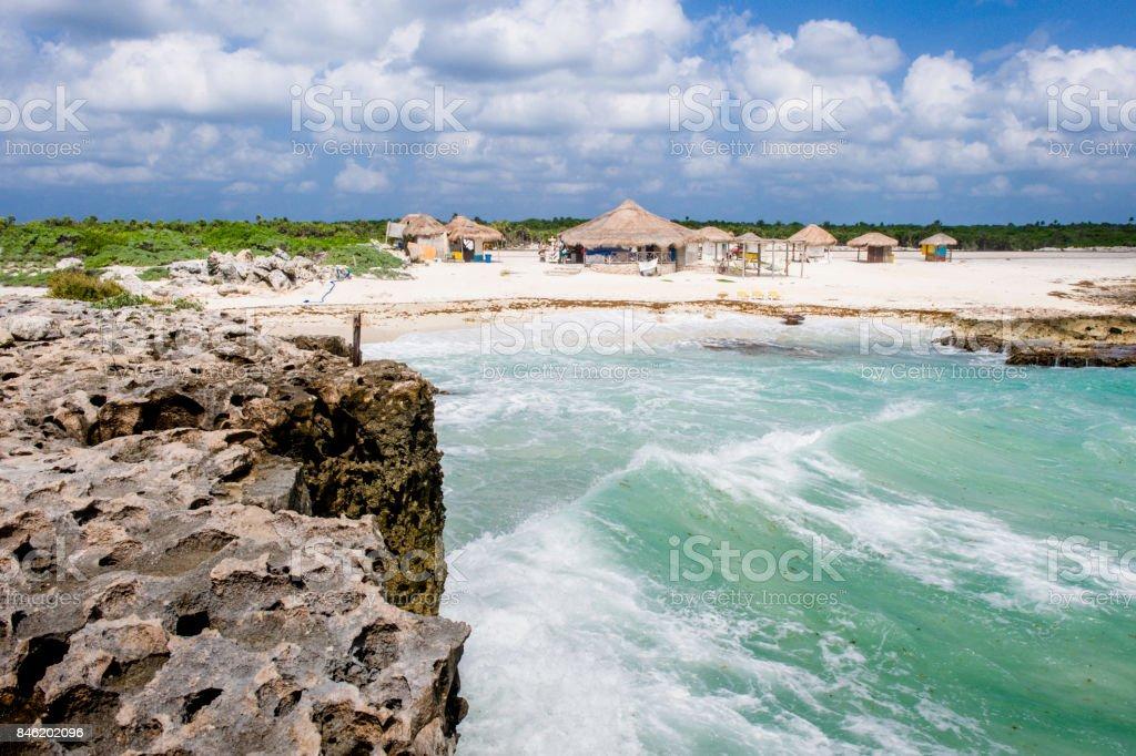 Beach of Cozumel stock photo