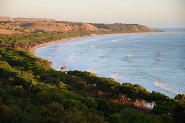 Beach of Eraclea Minoa, Agrigento, Sicily, Italy stock photo