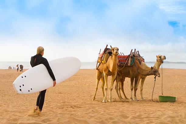 Strand von Essaouira, Marokko, Afrika. – Foto