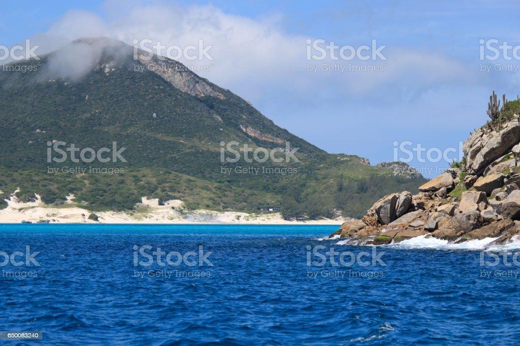Praia do Farol na cidade de Arraial do Cabo - Brasil - foto de acervo