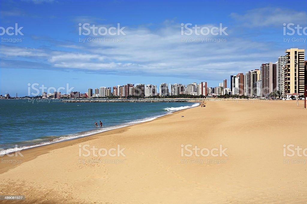 beach of Fortaleza Ceara Brazil stock photo