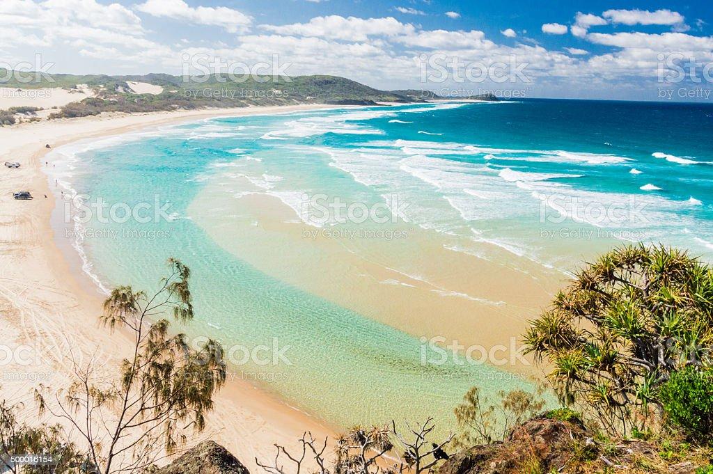 Beach of Fraser Island II stock photo