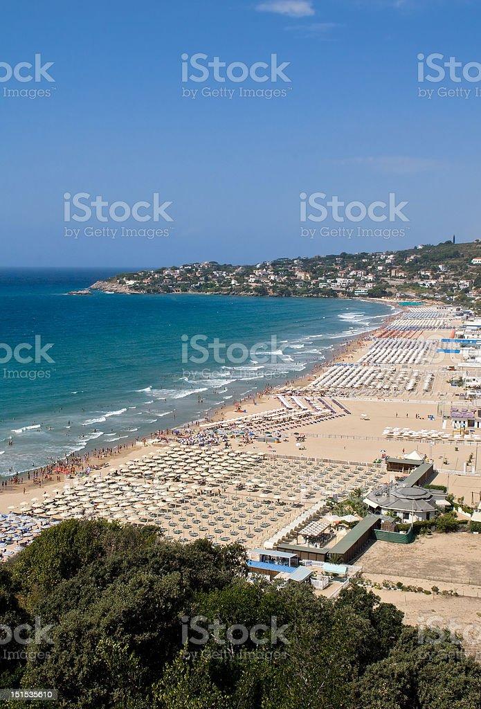 Beach of Gaeta royalty-free stock photo